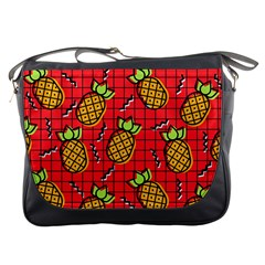 Fruit Pineapple Red Yellow Green Messenger Bags