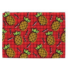 Fruit Pineapple Red Yellow Green Cosmetic Bag (xxl)