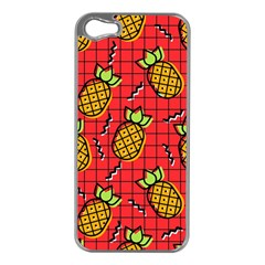 Fruit Pineapple Red Yellow Green Apple Iphone 5 Case (silver)