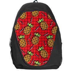 Fruit Pineapple Red Yellow Green Backpack Bag