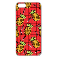 Fruit Pineapple Red Yellow Green Apple Seamless Iphone 5 Case (clear)