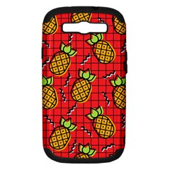 Fruit Pineapple Red Yellow Green Samsung Galaxy S Iii Hardshell Case (pc+silicone)