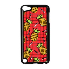 Fruit Pineapple Red Yellow Green Apple Ipod Touch 5 Case (black)