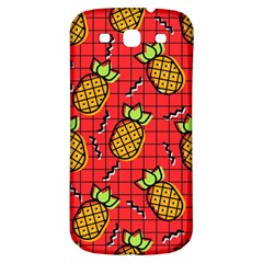 Fruit Pineapple Red Yellow Green Samsung Galaxy S3 S Iii Classic Hardshell Back Case