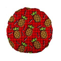 Fruit Pineapple Red Yellow Green Standard 15  Premium Round Cushions
