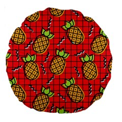 Fruit Pineapple Red Yellow Green Large 18  Premium Round Cushions