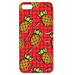 Fruit Pineapple Red Yellow Green Apple Iphone 5 Hardshell Case With Stand