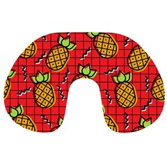 Fruit Pineapple Red Yellow Green Travel Neck Pillows