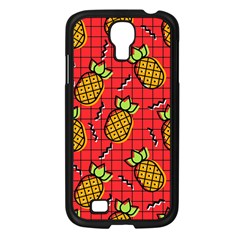 Fruit Pineapple Red Yellow Green Samsung Galaxy S4 I9500/ I9505 Case (black)