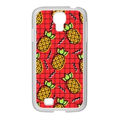 Fruit Pineapple Red Yellow Green Samsung Galaxy S4 I9500/ I9505 Case (white)