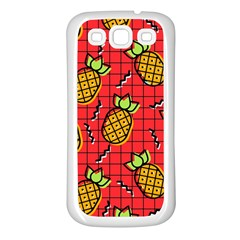 Fruit Pineapple Red Yellow Green Samsung Galaxy S3 Back Case (white)