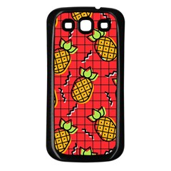 Fruit Pineapple Red Yellow Green Samsung Galaxy S3 Back Case (black)