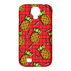 Fruit Pineapple Red Yellow Green Samsung Galaxy S4 Classic Hardshell Case (pc+silicone)