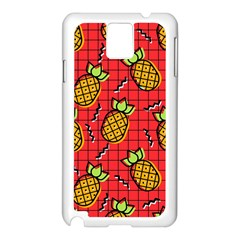 Fruit Pineapple Red Yellow Green Samsung Galaxy Note 3 N9005 Case (white)
