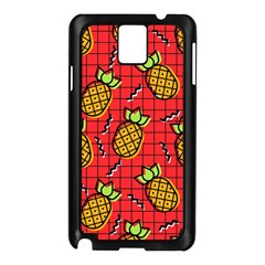 Fruit Pineapple Red Yellow Green Samsung Galaxy Note 3 N9005 Case (black)