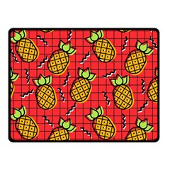 Fruit Pineapple Red Yellow Green Double Sided Fleece Blanket (small)