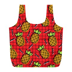 Fruit Pineapple Red Yellow Green Full Print Recycle Bags (l)
