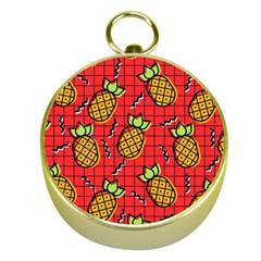 Fruit Pineapple Red Yellow Green Gold Compasses