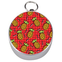 Fruit Pineapple Red Yellow Green Silver Compasses