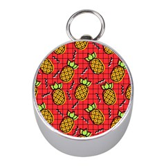 Fruit Pineapple Red Yellow Green Mini Silver Compasses
