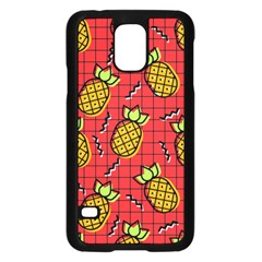 Fruit Pineapple Red Yellow Green Samsung Galaxy S5 Case (black)