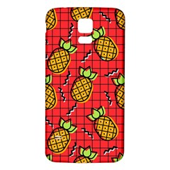 Fruit Pineapple Red Yellow Green Samsung Galaxy S5 Back Case (white)