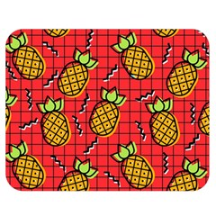Fruit Pineapple Red Yellow Green Double Sided Flano Blanket (medium)