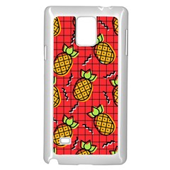 Fruit Pineapple Red Yellow Green Samsung Galaxy Note 4 Case (white)