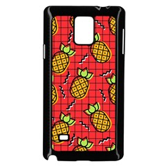 Fruit Pineapple Red Yellow Green Samsung Galaxy Note 4 Case (black)