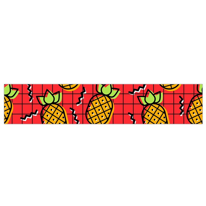 Fruit Pineapple Red Yellow Green Small Flano Scarf