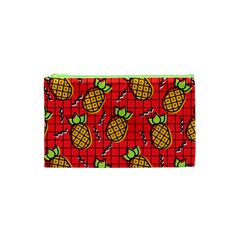 Fruit Pineapple Red Yellow Green Cosmetic Bag (xs)