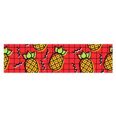 Fruit Pineapple Red Yellow Green Satin Scarf (oblong)