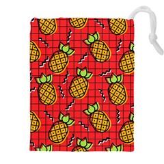 Fruit Pineapple Red Yellow Green Drawstring Pouches (xxl)