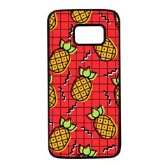 Fruit Pineapple Red Yellow Green Samsung Galaxy S7 Black Seamless Case