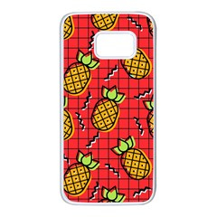 Fruit Pineapple Red Yellow Green Samsung Galaxy S7 White Seamless Case