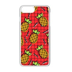 Fruit Pineapple Red Yellow Green Apple Iphone 7 Plus Seamless Case (white)