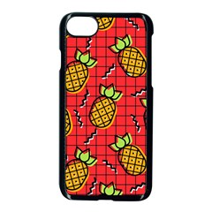 Fruit Pineapple Red Yellow Green Apple Iphone 7 Seamless Case (black)