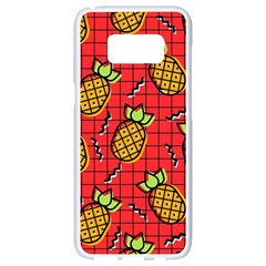 Fruit Pineapple Red Yellow Green Samsung Galaxy S8 White Seamless Case