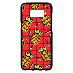 Fruit Pineapple Red Yellow Green Samsung Galaxy S8 Plus Black Seamless Case
