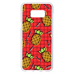 Fruit Pineapple Red Yellow Green Samsung Galaxy S8 Plus White Seamless Case