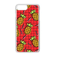 Fruit Pineapple Red Yellow Green Apple Iphone 8 Plus Seamless Case (white)