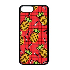 Fruit Pineapple Red Yellow Green Apple Iphone 8 Plus Seamless Case (black)