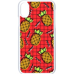 Fruit Pineapple Red Yellow Green Apple Iphone X Seamless Case (white)