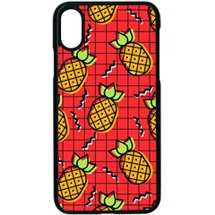 Fruit Pineapple Red Yellow Green Apple Iphone X Seamless Case (black)