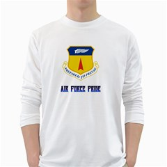 36th Wing Air Force Pride White Long Sleeve T Shirts