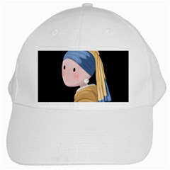 Girl With A Pearl Earring White Cap