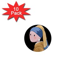 Girl With A Pearl Earring 1  Mini Magnet (10 Pack)