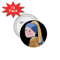 Girl With A Pearl Earring 1 75  Buttons (10 Pack)