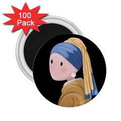 Girl With A Pearl Earring 2 25  Magnets (100 Pack)