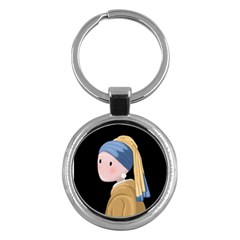 Girl With A Pearl Earring Key Chains (round)